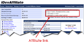 Use a special html link to join the Forex affiliate program